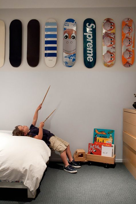 Skateboard decks als wanddecoratie