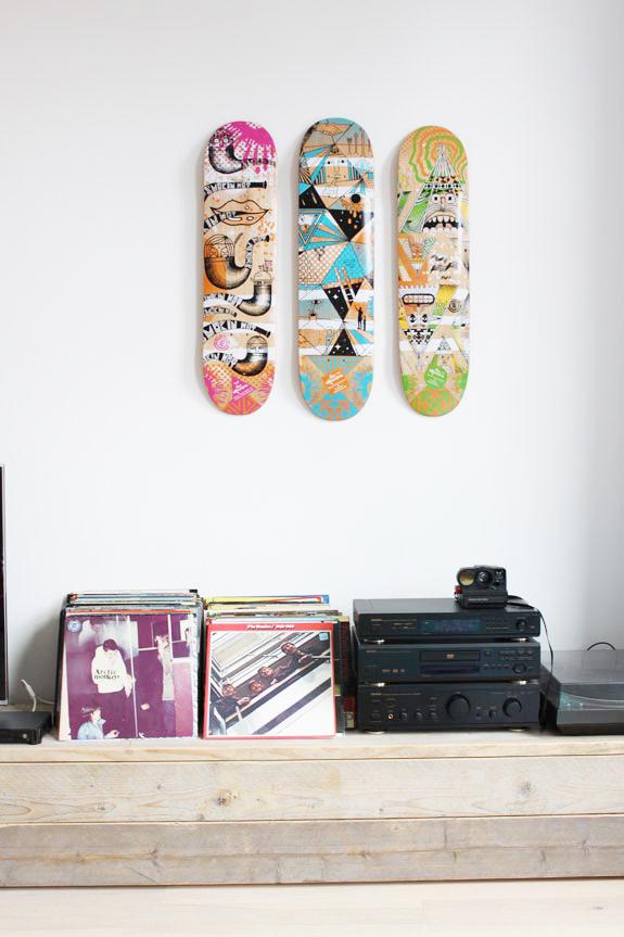 Geliefde Skateboard decks als wanddecoratie | Huis-inrichten.com @UF56