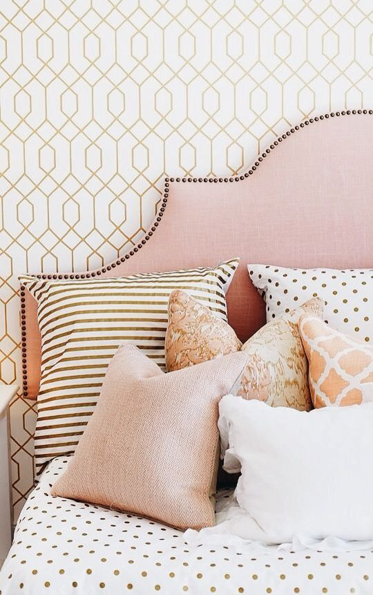slaapkamer behang patroon