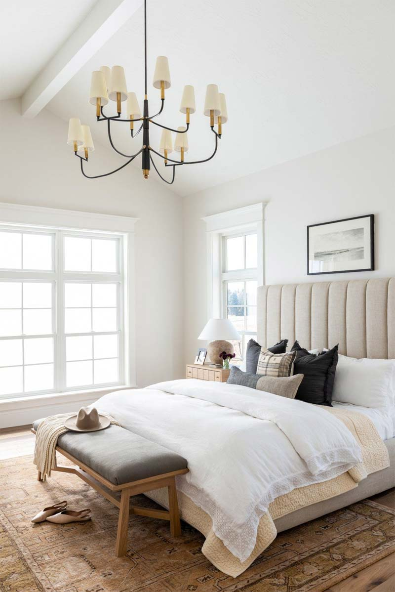 slaapkamer decoratie ideeën bankje voeteneinde