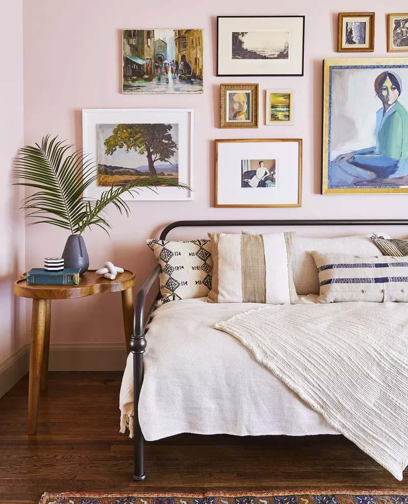 slaapkamer decoratie ideeën collage van lijsten