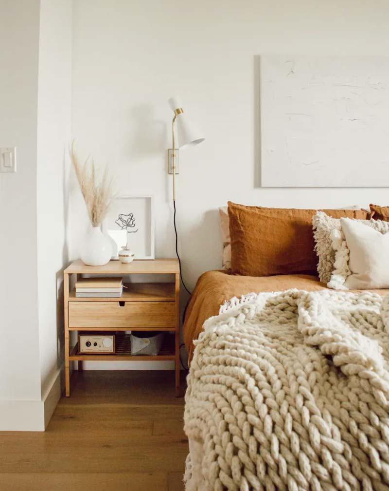 slaapkamer decoratie ideeën droogbloemen