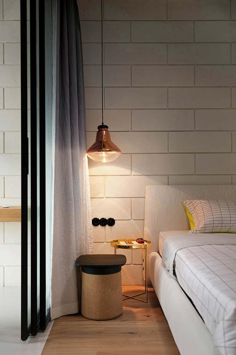 slaapkamer decoratie ideeën hanglamp boven nachtkastje
