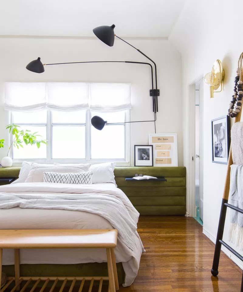 slaapkamer decoratie ideeën op maat gemaakt hoofdbord