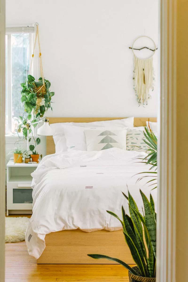 slaapkamer decoratie ideeën planten