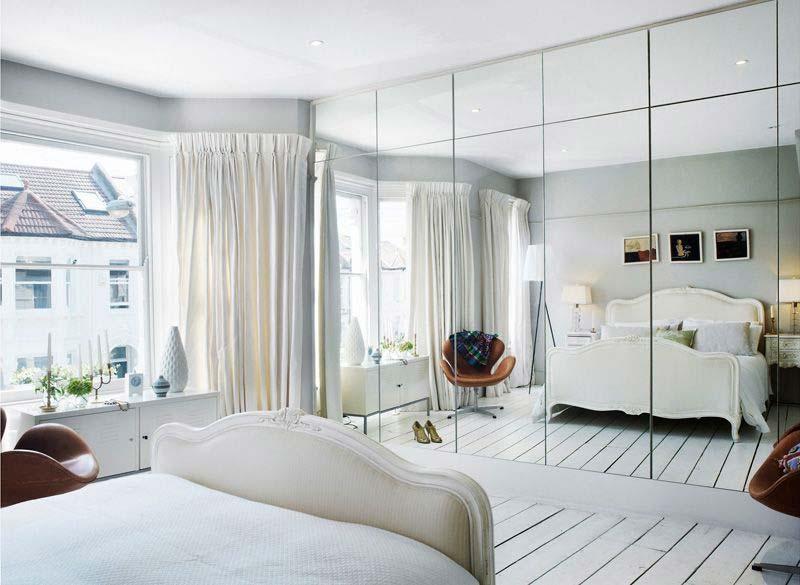 slaapkamer decoratie ideeën spiegelwand