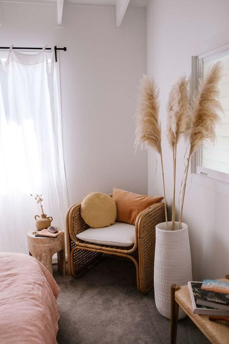 slaapkamer decoratie ideeën stoel