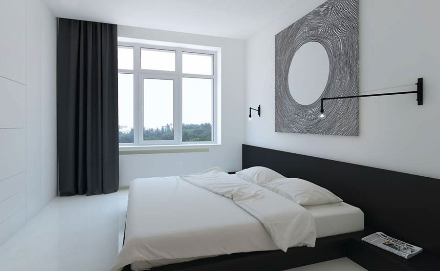slaapkamer gietvloer wit