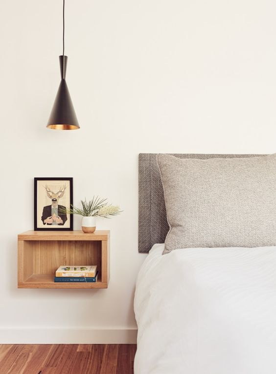 slaapkamer hanglamp boven nachtkastje
