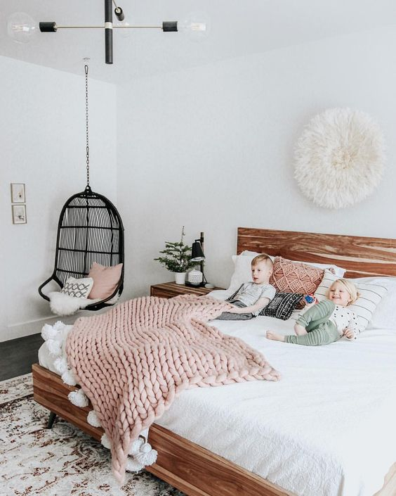 slaapkamer hangstoel inspiratie