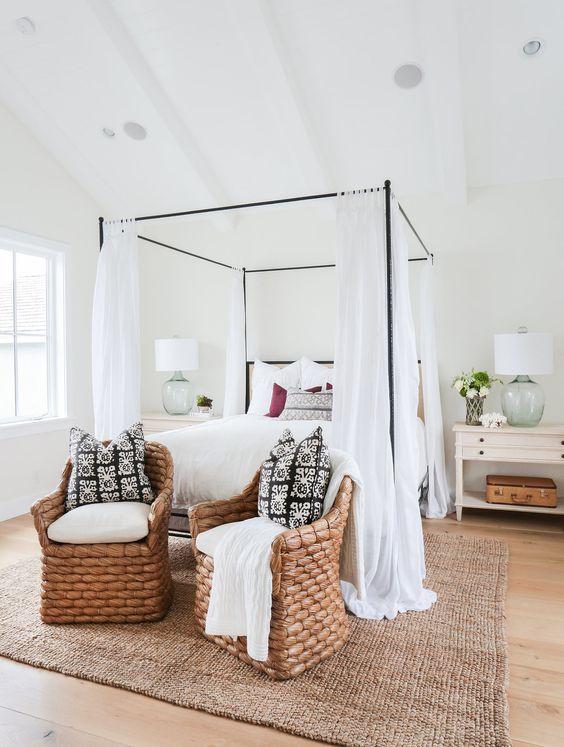 slaapkamer hemelbed gordijnen