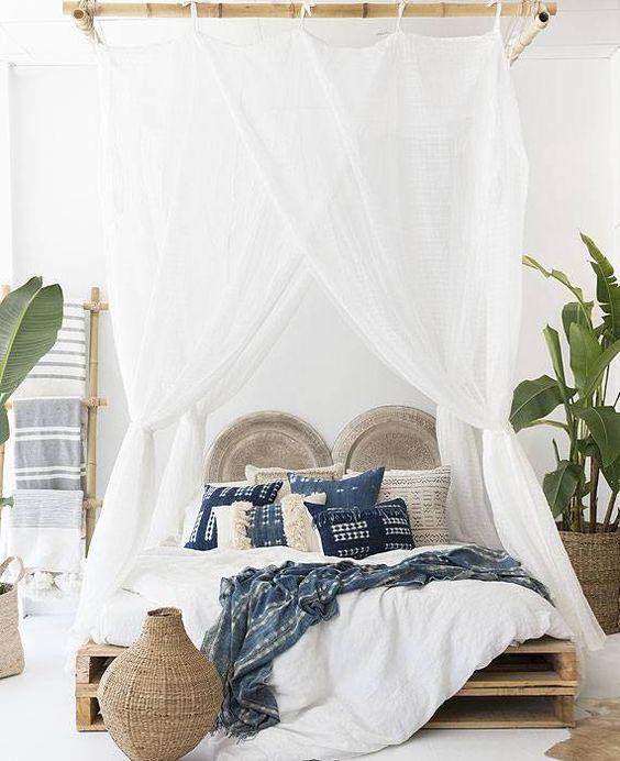 slaapkamer hemelbed ideeën