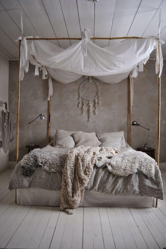 slaapkamer hemelbed inspiratie