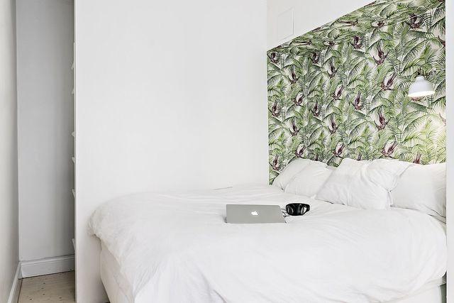 slaapkamer hoofdbord behang