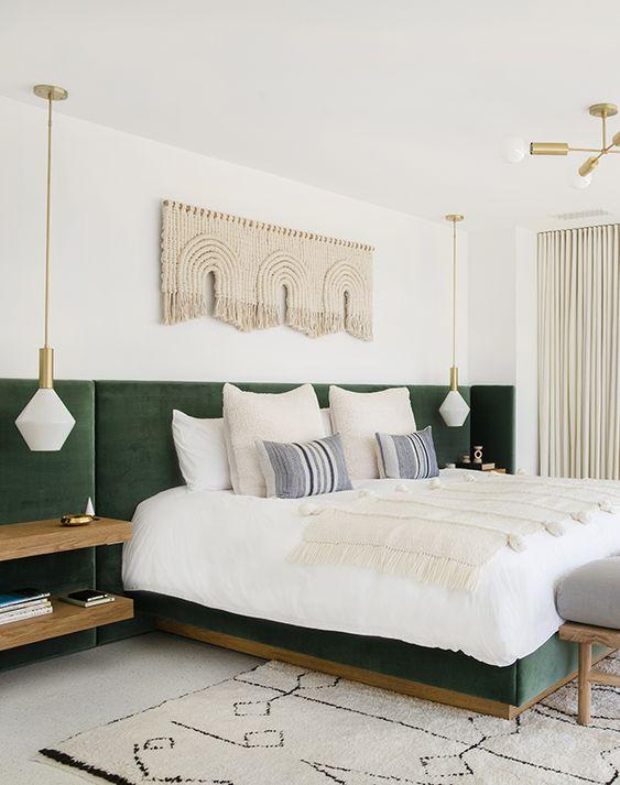 slaapkamer hoofdbord fluweel