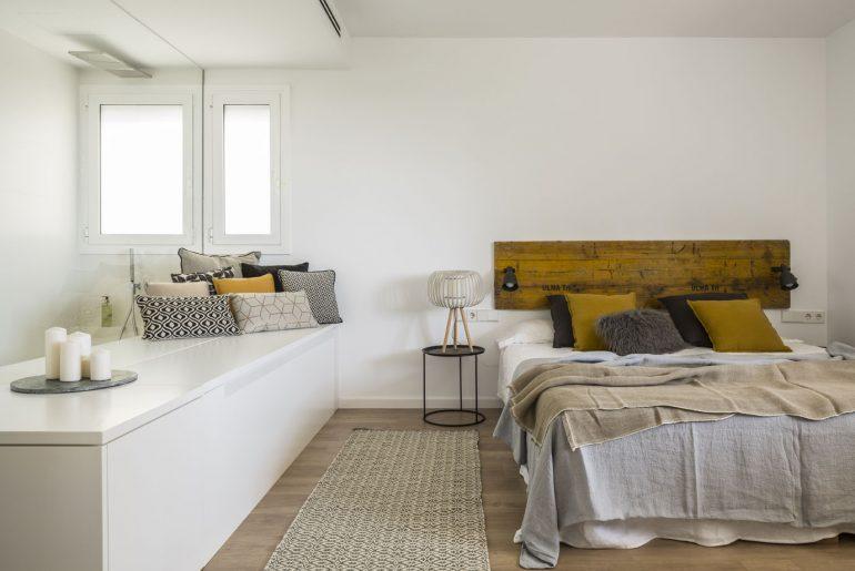 slaapkamer hoofdbord hout