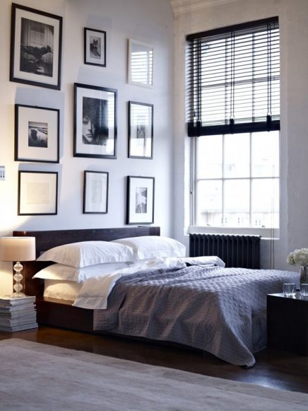 slaapkamer houten jaloezieën