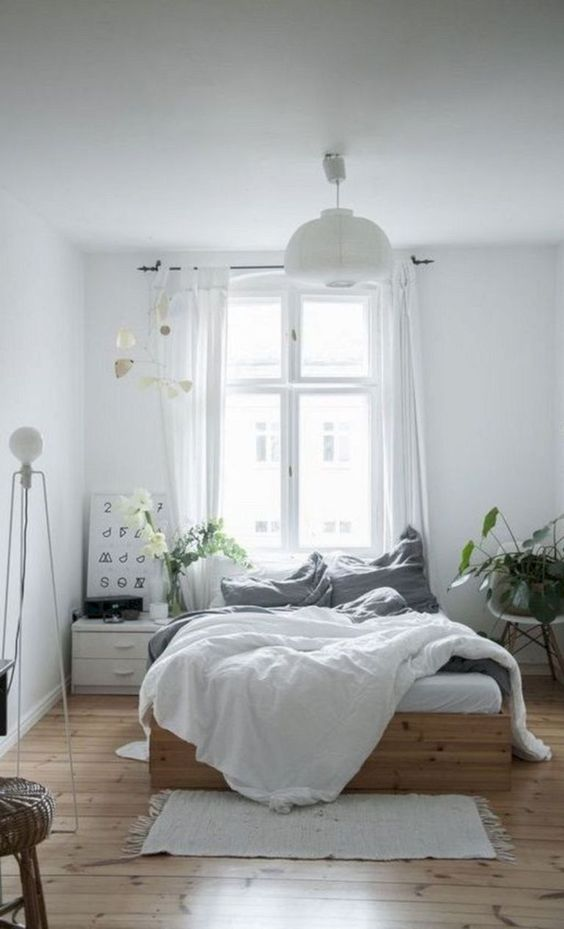 slaapkamer houten vloer ideeën