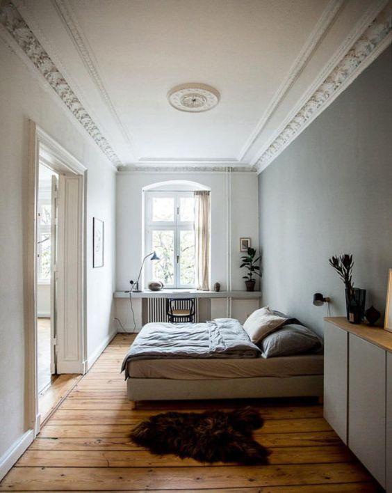slaapkamer houten vloer