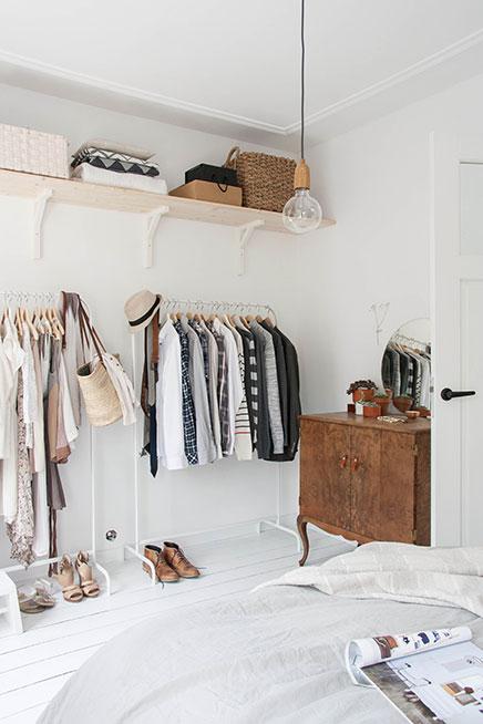 slaapkamer ikea kledingrekken