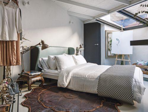 Slaapkamer van interieurontwerpster Celia Gómez