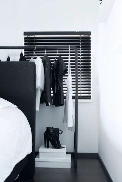 slaapkamer jaloezieën zwart