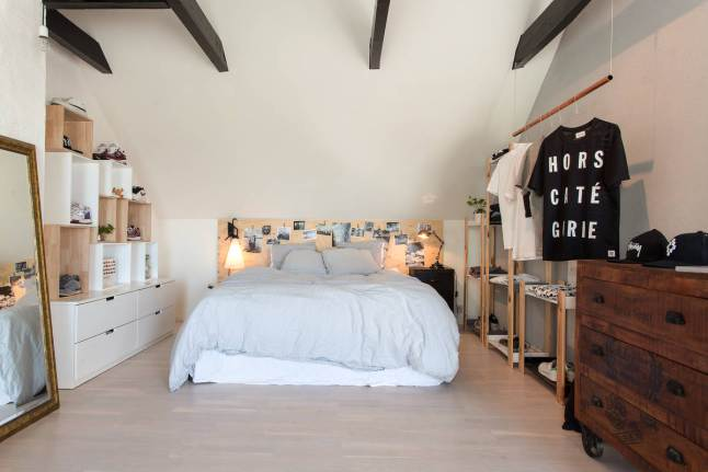 slaapkamer kledingrek ideeën