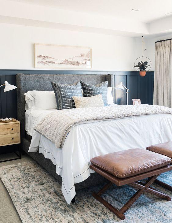 slaapkamer lambrisering ideeën