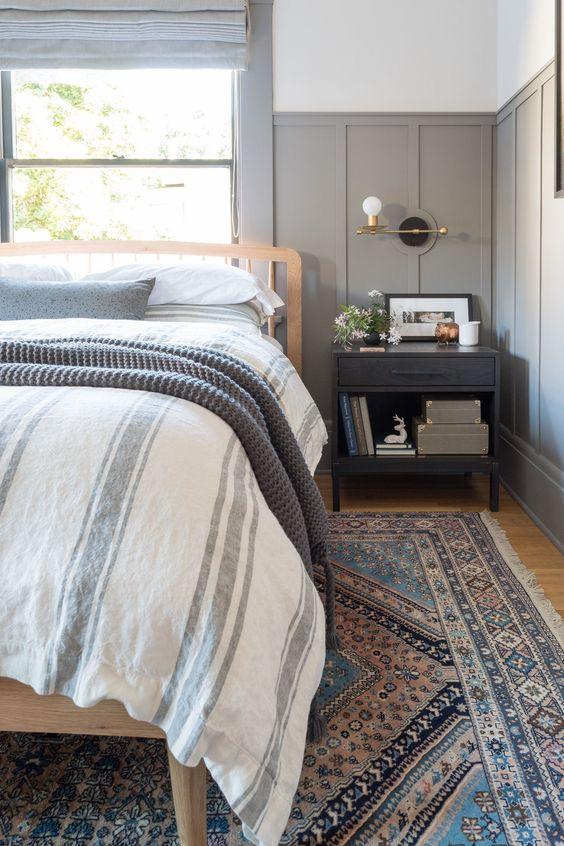 slaapkamer lambrisering inspiratie