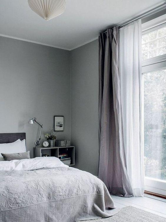 slaapkamer linnen gordijnen