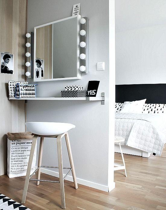 slaapkamer make up tafel ideeën