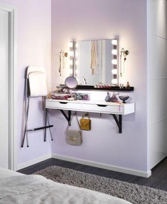 slaapkamer make up tafel inspiratie