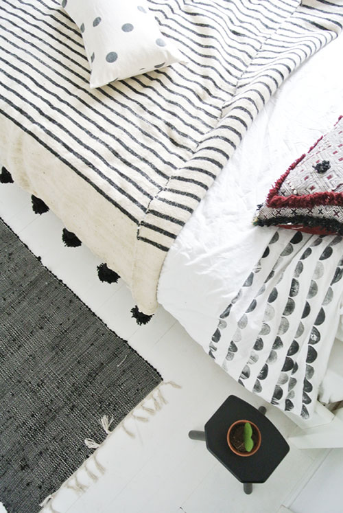 Slaapkamer met Marokkaanse en Scandinavische stijl