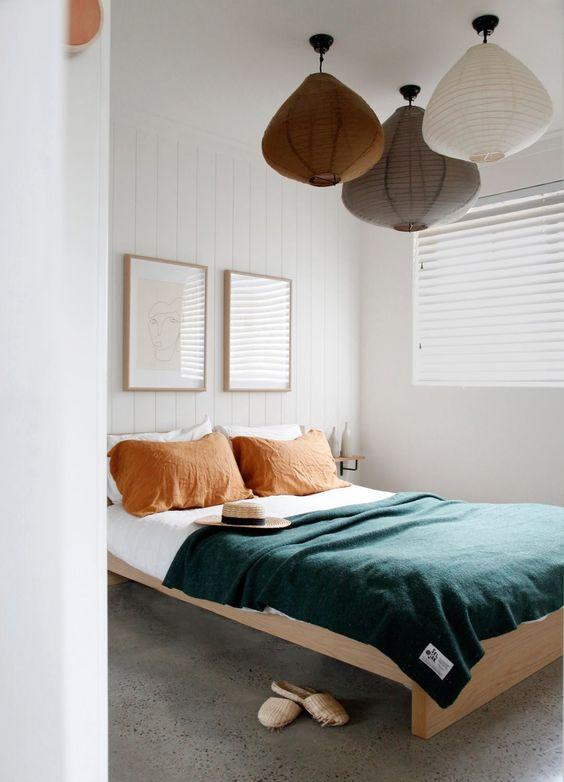 slaapkamer meerdere hanglampen