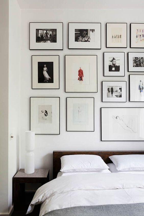 slaapkamer muurcollage lijsten