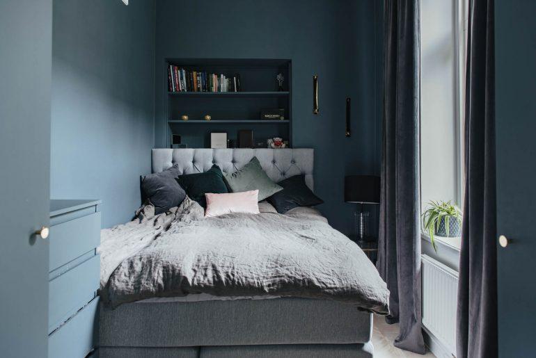 Slaapkamer muurkleur blauw