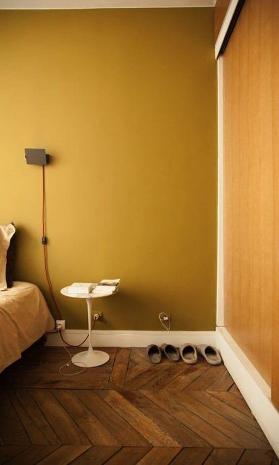 Slaapkamer muurkleur geel