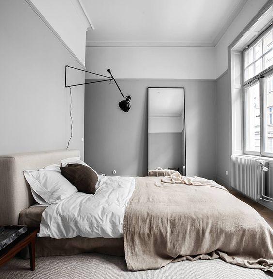 Slaapkamer muurkleur grijs