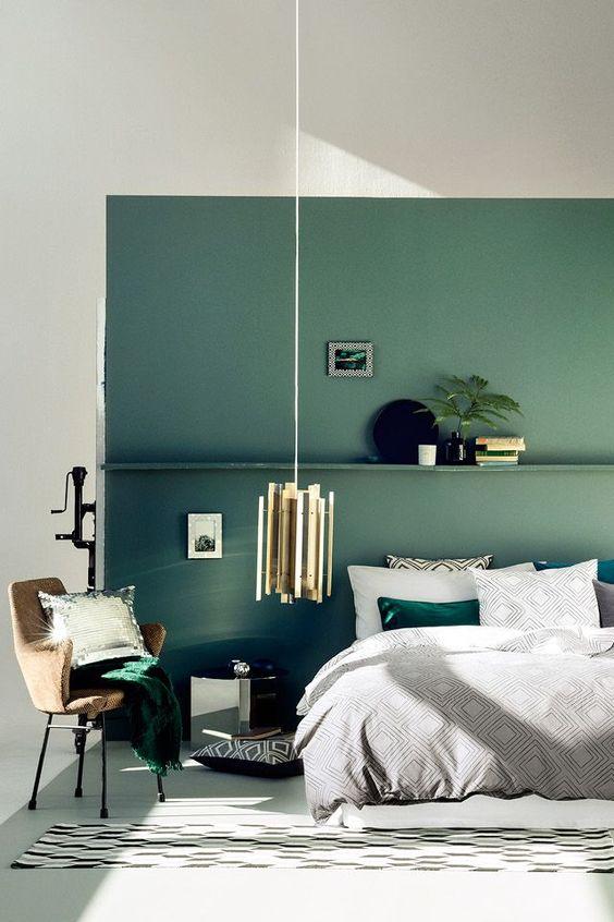 Slaapkamer muurkleur groen