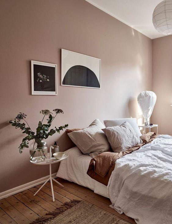 Slaapkamer muurkleur roze