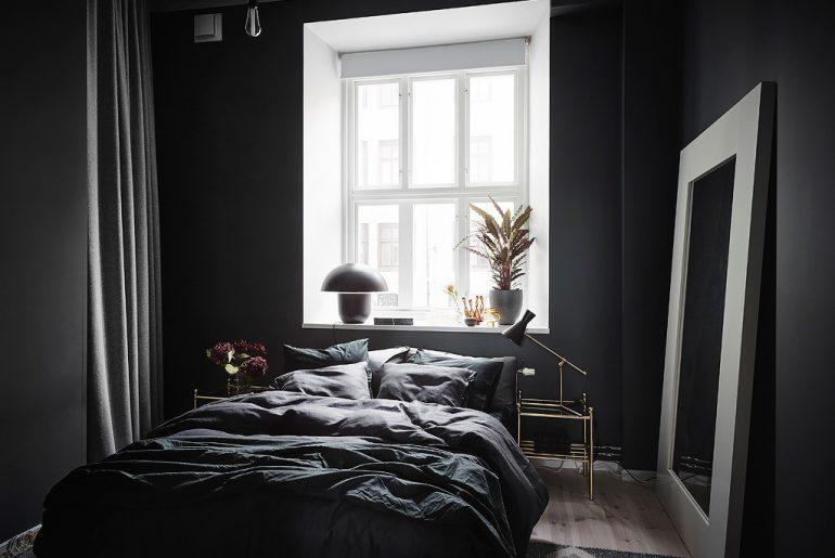 Slaapkamer muurkleur zwart