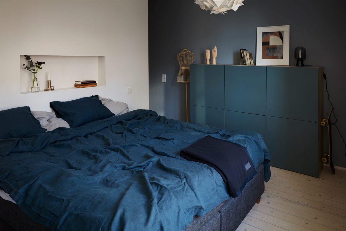 slaapkamer nisje muur boven bed