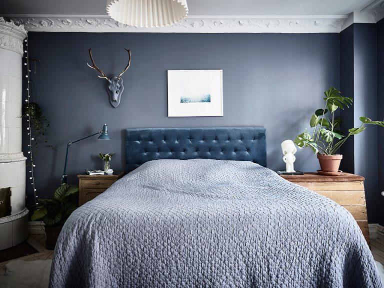 slaapkamer plantje op nachtkastje