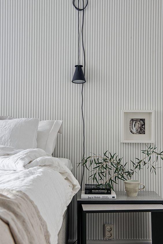 slaapkamer strepen behang