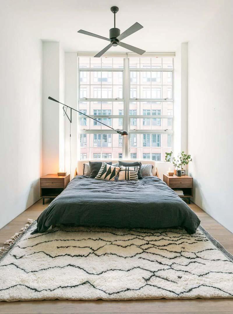 slaapkamer vintage berber vloerkleed