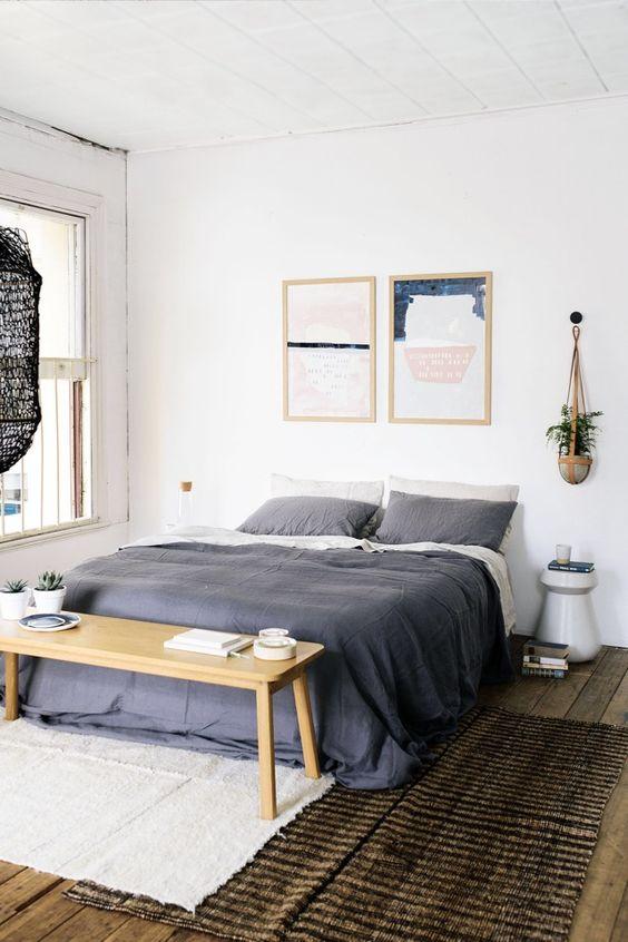 slaapkamer vloerkleed uiteinde bed