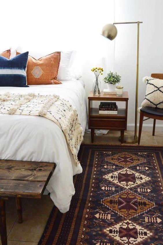 slaapkamer vloerkleed vintage