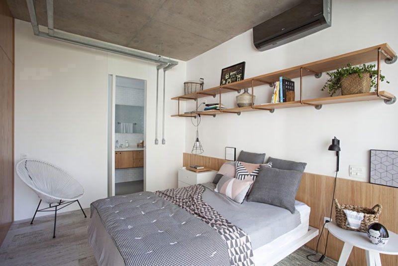 slaapkamer wandplank ideeën