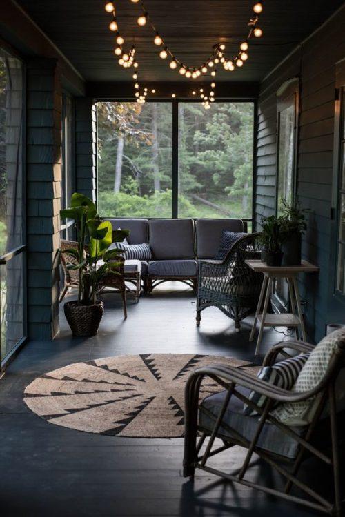 Slingerverlichting veranda