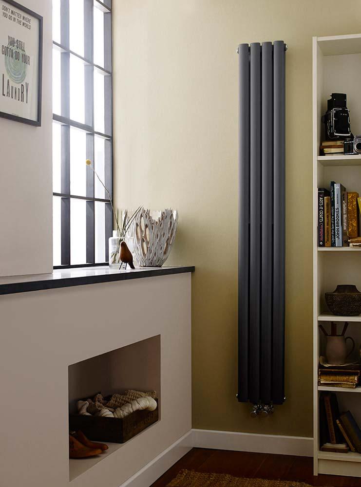 In deze ruimte is de verticale radiator de perfecte oplossing.